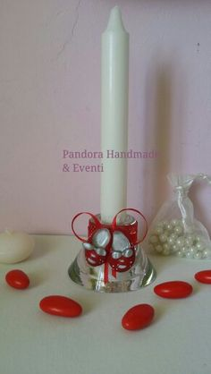 Bomboniera portacandela con gessetto profumato by Pandora Handmade & Eventi