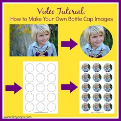 This might seem overwhelming at first, but I promise if I can do it, so can you and in a matter of minutes too! Simply watch our video tutorial BELOW and follow the easy steps.  You will be able to turn your images into 1 inch circles---ready to be printed and used with your bottle cap crafts.