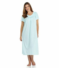 Miss Elaine Woman ShortSleeve Long Gown #Dillards