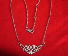 Celtic knot necklace nickle free . 925  silver and ajustable chain new lower price
