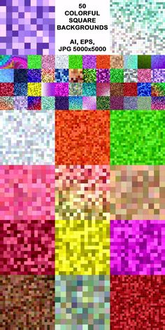 50 colorful square mosaic background designsPackage contains: - 50 vector AI - 50 vector EPS - 50 JPG Square Patterns, Heart Patterns, Vector Pattern, Pattern Design, Vector Design, Graphic Design, Fabric Wreath, Circle Pattern, Geometric Background