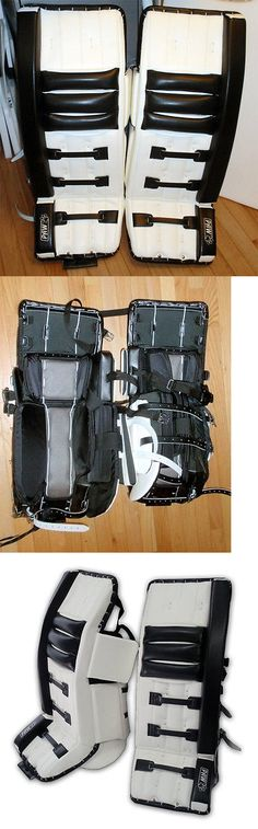 Leg Pads 79764: Black And White 32 Inch Paw Ice Hockey Goalie Leg Pads Model : P2000 -> BUY IT NOW ONLY: $750 on eBay!
