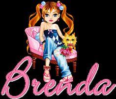 Naamanimaties en naamplaatjes van Brenda
