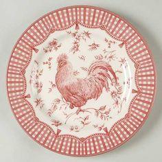 Queens Red Rooster transferware