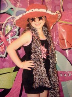 Jorja dressed up at a diva birthday party