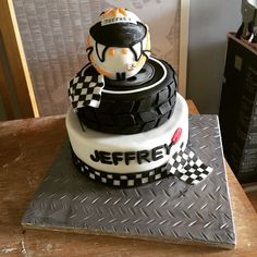 Go kart/racing theme birthday cake