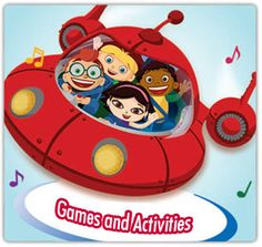 Little Einsteins Party Games & Activities, links to free invite, decorations, etc
