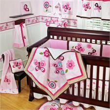 Dancing Butterflies Baby Bedding by Sumersault - Dancing Butterflies Crib Bedding
