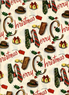 Vintage Christmas wrapping paper...I wish I had the $$ to buy specific paper for…