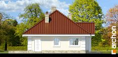 Dom w lotosach 2 Bungalow House Design, Home Fashion, Garage Doors, Cabin, Dining, House Styles, Outdoor Decor, Home Decor, Home