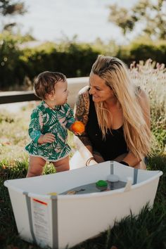 A brilliant duo for your baby's outdoor summer entertainment: Mommy and our lightweight, portable and foldable #Stokke #FlexiBath ! Fold It flat for easy transportation or storage when play time is over. 📸: @travelingmadly #BabyBath #BathTime #FoldableBath #BathTub #BabyRegistry #BabyGear #BabyGearMustHaves #BabyGoods #Staycation #Summer Summer Baby, Summer Fun, How To Get Warm, Kids Branding, Baby Registry, Baby Essentials, Cool Baby Stuff, Staycation, Bath Time