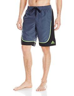Adidas Mens Pacific Volley Swim Short GunmetalBlack XLarge *** Find similar swimwear by clicking the image