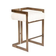 Murray Stool  MidCentury  Modern, Contemporary, Industrial, Metal, Upholstery  Fabric, Barstools  Counter Stool by Modern Living Supplies