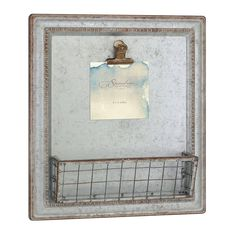 bc91a4ac710 Amazon.com  Stonebriar SB-6016A Beach House Galvanized Metal Wall Decor  with Basket