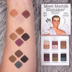 Meet Matt(e) Shmaker by The Balm Cosmetics, Swatches 5 Tips To Make Your Personal Training Makeup Swatches, Makeup Dupes, Makeup Brands, Eye Makeup, The Balm Makeup, Meet Matte, Spring Makeup, Makeup Blog, Ultra Violet
