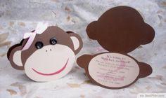 Custom DIY Monkey Head Invitation Card ❥❥❥ http://bestpickr.com/printable-monkey-baby-shower-invitations