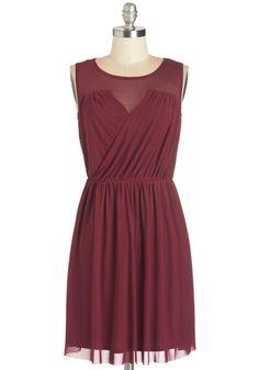 Exclusive Flirting with Danger Cutout Burgundy Dress | Korte