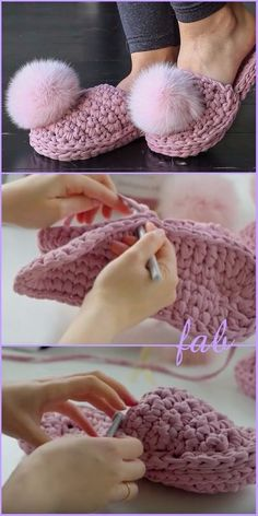 Crochet t-shirt yarn slippers shoes free pattern, # yarn # crochet # slippers # cost . Crochet t shirt yarn slippers shoes free pattern, Crochet Diy, Tongs Crochet, Crochet Simple, Mode Crochet, Crochet T Shirts, Crochet Shell Stitch, Crochet Crafts, Crochet Clothes, Crochet Socks