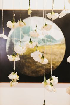 Hanging floral garland // photos by Erin + Tara Photography