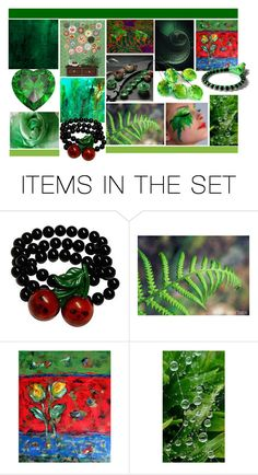 """""""Greens on My Mind"""" by crystalglowdesign ❤ liked on Polyvore featuring art"""