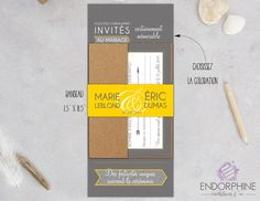 Invitation moderne Endorphine, version imprimable Invitation, Design, Printable, Coloring, Modern, Design Comics, Invitations, Reception Card