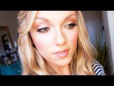 """Peachy """"Nude"""" Makeup look by Alli Nude Makeup, Glam Makeup, Bridal Makeup, Beauty Makeup, Hair Makeup, Hair Beauty, Best Makeup Tips, Makeup 101, Makeup Ideas"""