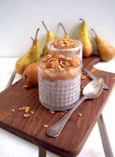 Karamellinen päärynä chiapuuro - Dr. Sugar Takana, Dairy, Pudding, Sugar, Cheese, Desserts, Food, Meal, Custard Pudding