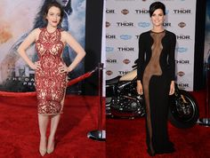 Kat Dennings and Jaimie Alexander Remind Us That Skin is Still In : The two attended the premiere of their movie, in body-baring dresses. #SelfMagazine
