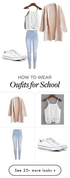 """School!"" by ccjcv on Polyvore featuring H&M and Converse"