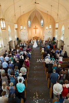 Church Ceremony: Saint Francis and Saint Mary Parish in Brussels. Door County wedding by http://www.JMannPhoto.com 920-246-8106
