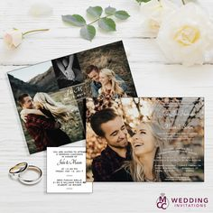 15 Trendy Wedding Invitations Rustic With Picture Design Elegant Wedding Invitations, Discount Wedding Invitations, Wedding Invitations With Pictures, Wedding Invitation Envelopes, Rustic Invitations, Invitation Fonts, Invitations Online, Invitation Design, Wedding Cards