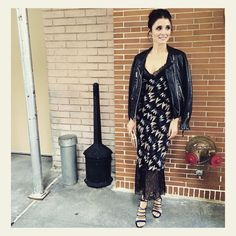 507941badcb10 Shiri Appleby is #soDVF in the Margarit Silk Slip Dress. Shop the Margarit  dress