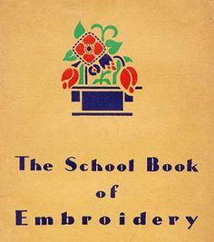The Schoolbook of embroidery front cover - free download