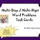 I have found that my students need constant practice with understanding word problems, especially those with multiple steps.This is a set of 20 m...
