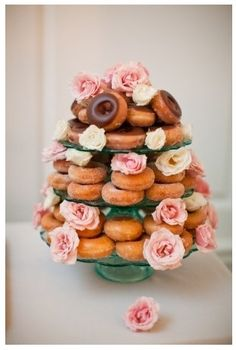 I like the flowers on the tiered platter. Could do with cupcakes or fruit even