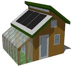 Interesting design incorporates greenhouse and solar panel install.  Looks like a long glass window running the roofline to provide natural light inside.