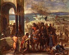 FALL of CONSTANTINOPLE in 1204 Invasıon of Constantinople by Crusaders Thomas Couture, Eugène Delacroix, Fall Of Constantinople, Aberdeen Art Gallery, Museum Poster, Personalised Prints, Art Uk, Fantastic Art, Oil On Canvas