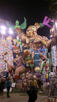 Fallas 2014 Valencia City, Valencia Spain, Sculpture Art, Sculptures, Fantasy Places, Character Modeling, St Joseph, Art Dolls, Parade Floats