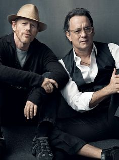Actor/Director Dynamics Vanity Fair | Director Ron Howard and Tom Hanks | Splash, Apollo 13, The Da Vinci Code, Angels & Demons | Photograph by Annie Leibovitz  #leibovitz