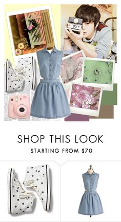 """""""L"""" by ninaxo17 on Polyvore featuring Polaroid, Keds and Fujifilm"""