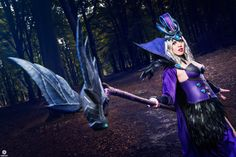 Ravenborn LeBlanc cosplay from League of Legends. Cosplay made by me, Ynotece cosplay. Photograph : Kaicom