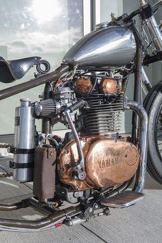 yamaha xs 650 twins -copper plated