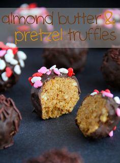 Almond Butter and Pretzel Truffles