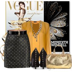 How To Wear Studded Chic Outfit Idea 2017 - Fashion Trends Ready To Wear For Plus Size, Curvy Women Over 20, 30, 40, 50