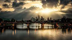 Rzeka, Most, Drapacze, Chmur, Guerel Sahin
