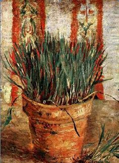 Vincent van Gogh (1853-1890). Flower Pot with Chives