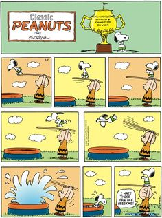 """Schulz's classic """"Peanuts"""" looks at the lives of Charlie Brown, Snoopy, and other favorite characters. Snoopy Comics, Snoopy Cartoon, Peanuts Cartoon, Cute Comics, Funny Comics, Peanuts Comics, Peanuts Gang, Peanuts By Schulz, Charlie Brown Comics"""