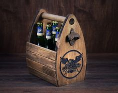 Personalized Wooden 6 pack holder Beer Holder Beer by GoodWoodGift