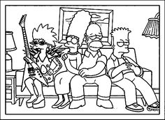The Simpsons Coloring Page WeColoringPage 115
