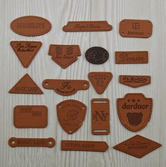 WellieSTR Fashion 18 Stlye PU Leather Garment Labels Tag Shoes Bag Clothes Sewing Patches Zakka DIY Craft * More info could be found at the image url. Shirt Embroidery, Embroidery Fashion, Leather Label, Pu Leather, Patches For Sale, Sewing Patches, Tag Design, Clothing Labels, Leather Keychain